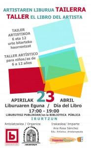 cartel libro artista